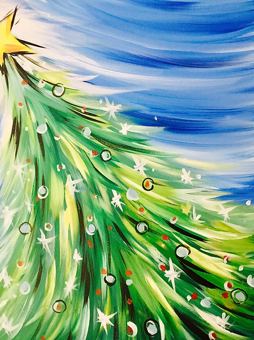 """Paint Party """"To-Go""""- CHRISTMAS TREE"""