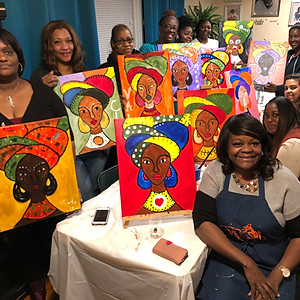 Mobile Paint Party - AFRICAN QUEEN (hosted by Melody)