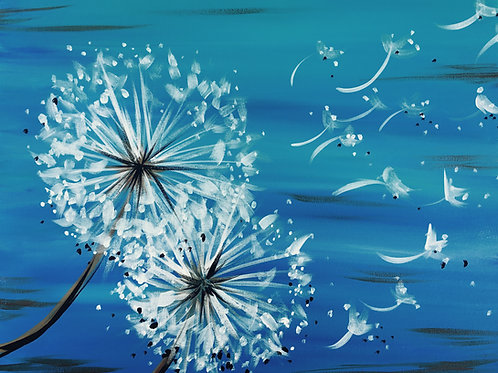 """Paint Party """"To-Go"""" - SNOW FLOWER"""