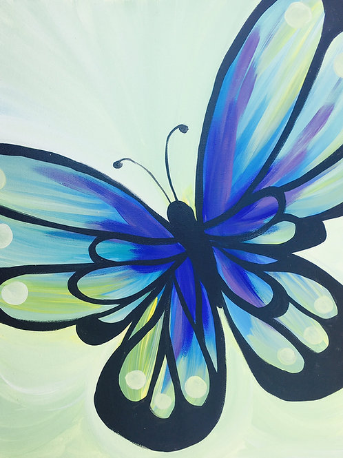 """Paint Party """"To-Go"""" - BUTTERFLY"""