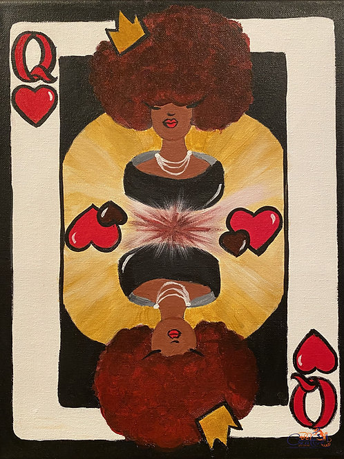 """Paint Party """"To-Go"""" - QUEEN OF HEARTS"""