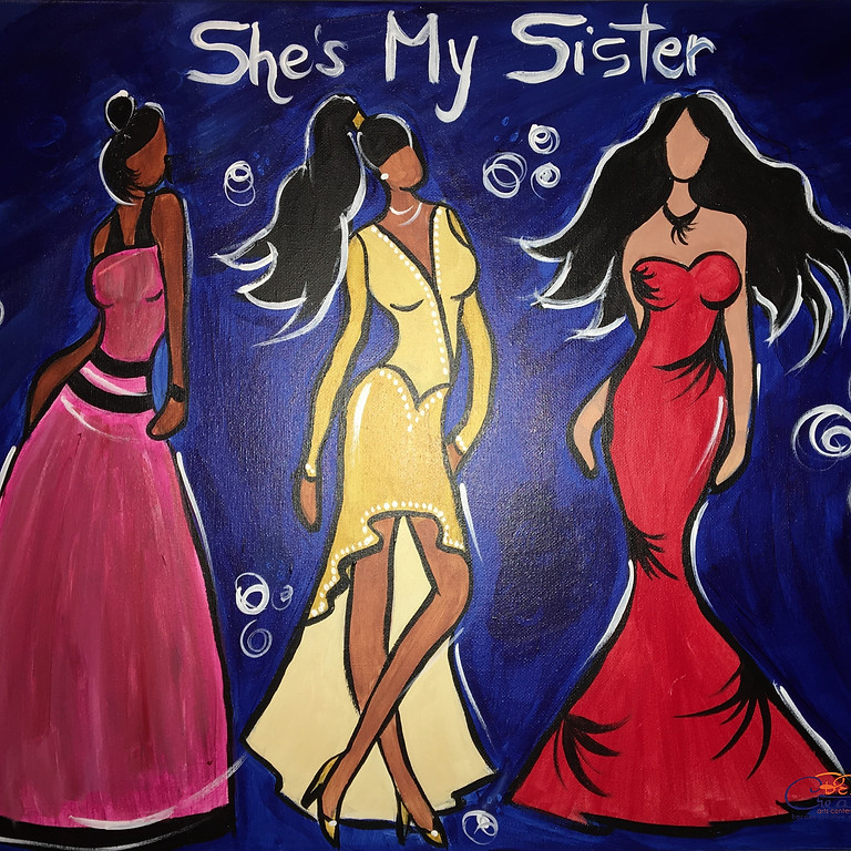 Virtual Paint Party with BE! Creative - SHE'S MY SISTER