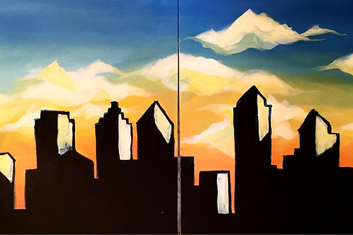 "Paint Party ""To-Go"" - CITY SCAPE"