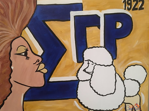 "Paint Party ""To-Go"" - DIVINE 9: SIGMA GAMMA RHO"