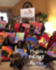Mobile Paint Parties at BE! Creative Ars Center