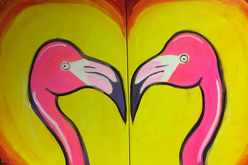 """Paint Party """"To-Go"""" - LOVE BIRDS"""