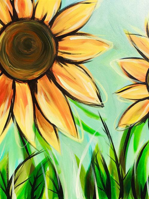 """Paint Party """"To-Go"""" - SUNFLOWERS"""