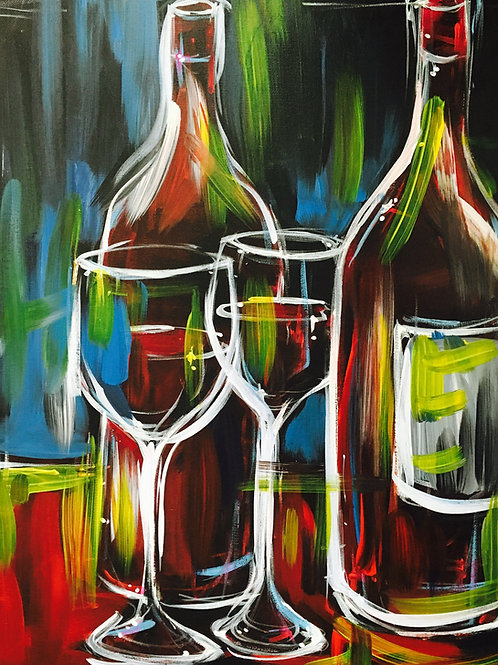 """Paint Party """"To-Go"""" - ABSTRACT WINES"""
