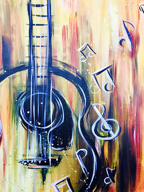 """Paint Party """"To-Go""""- ACOUSTIC GUITAR"""