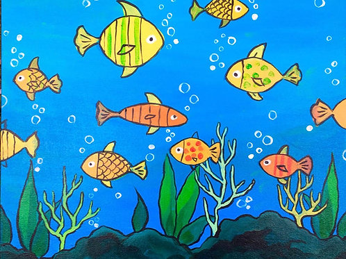 """Paint Party """"To-Go"""" - UNDER THE SEA"""