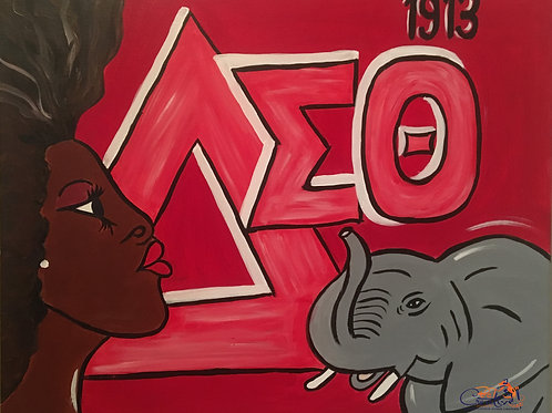 """Paint Party """"To-Go"""" - DIVINE 9: DELTA SIGMA THETA"""