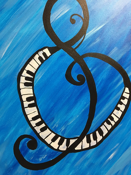 """Paint Party """"To-Go""""- TREBLE CLEF"""