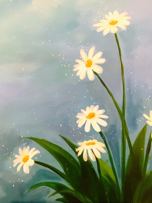 """Paint Party """"To-Go"""" - DAISIES"""