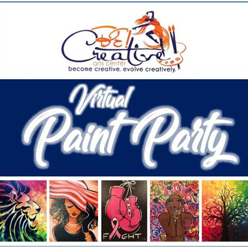 Private Virtual Paint Party (DEPOSIT)