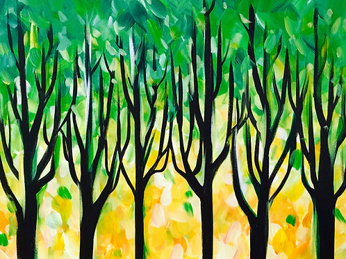 "Paint Party ""To-Go"" - FUN WITH TREES"