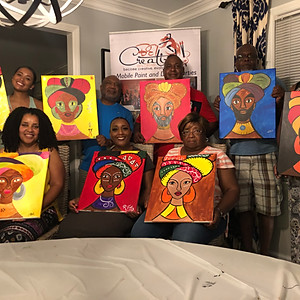 Paint Party - AFRICAN QUEEN / KING (Hosted by Rasha)