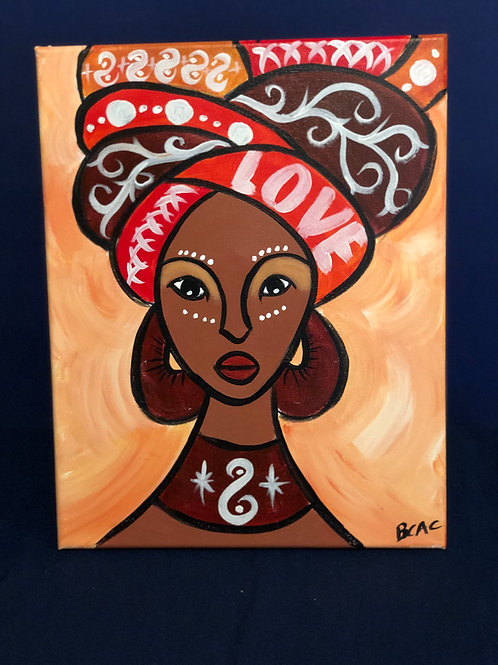 BCAC Canvas Painting - 11x14 - African Queen