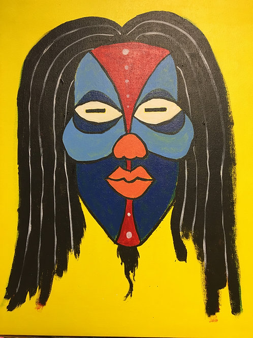 """Paint Party """"To-Go"""" - AFRICAN MASK 5"""