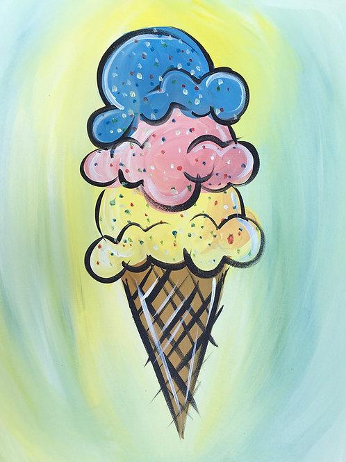 "Paint Party ""To-Go"" - ICE CREAM"