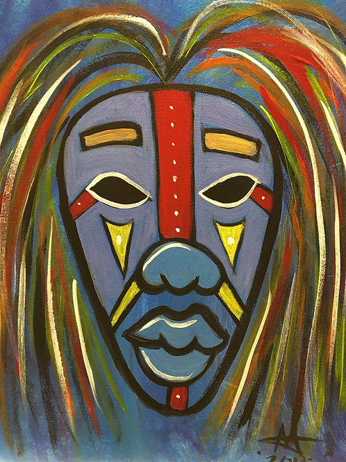 """Paint Party """"To-Go"""" - AFRICAN MASK 1"""