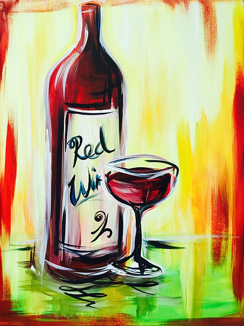"""Paint Party """"To-Go"""" - RED WINE"""