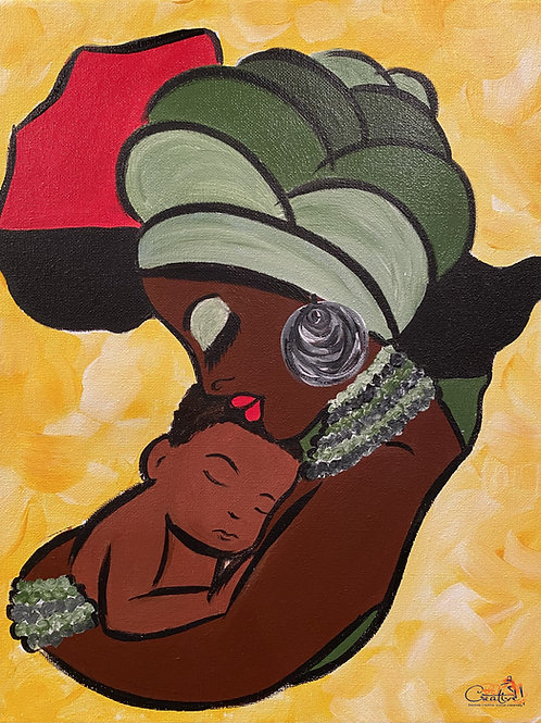 """Paint Party """"To-Go"""" - MOTHER AND CHILD (AFRICAN HERITAGE)"""