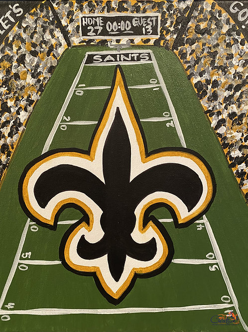 """Paint Party """"To-Go""""- FANS IN THE STANDS - SAINTS"""