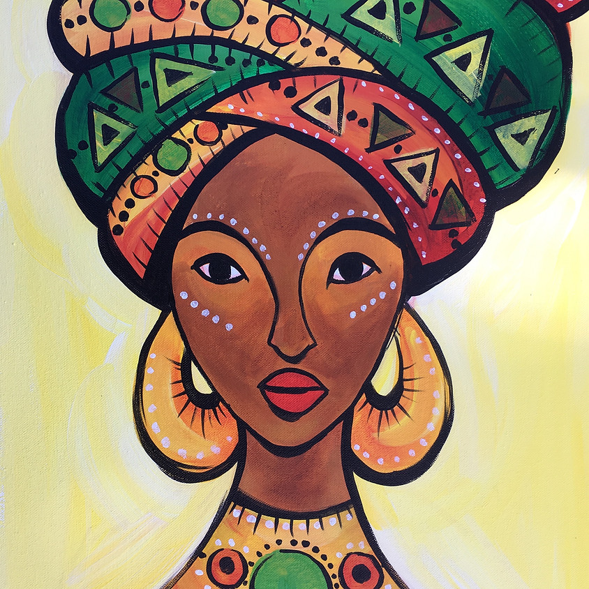 Virtual Paint Party with BE! Creative - AFRICAN QUEEN