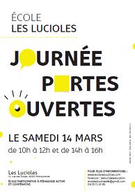 Portes ouvertes le samedi 14 mars