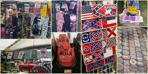 racist merchandise offered by vendors at the Delaware County Fair in Walton, NY