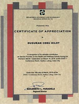 DOST 03162018 Dugukan Cebu Hilot - 09012