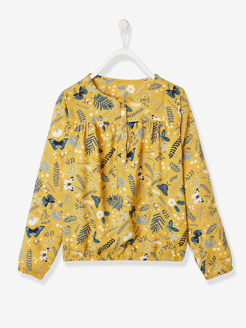 blouse-fille-imprimee