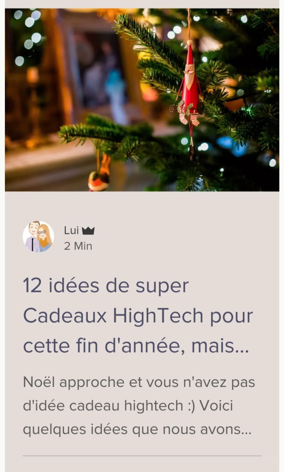 Cadeaux High tech