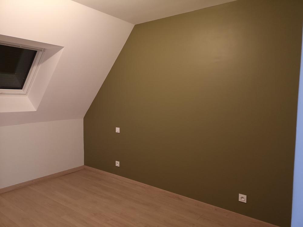 Mur chambre kaki