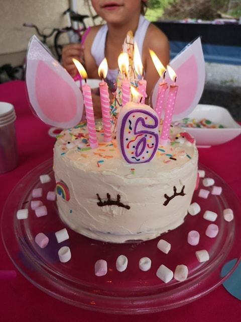 Notre super gâteau licorne