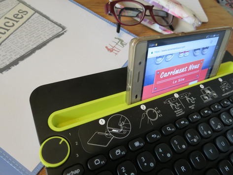 Clavier sans fil Logitech K480 pour smartphone, tablette et PC, testé et approuvé.