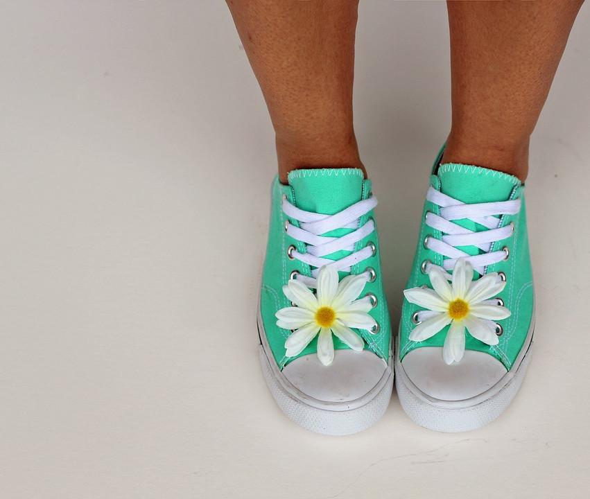 Chaussure verte