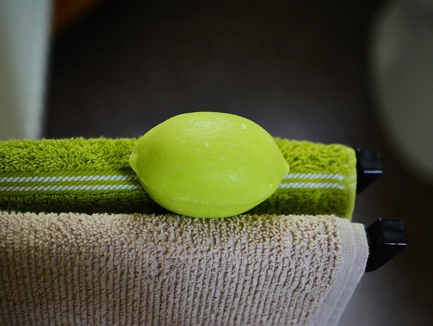 Serviettes de toilette verte