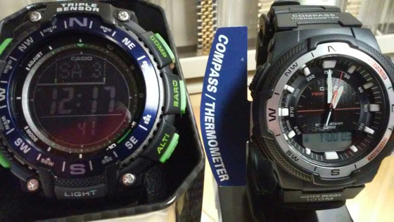Casio produced the first watch with a digital compass in 1993. (model CPW-100) The innovation and qu