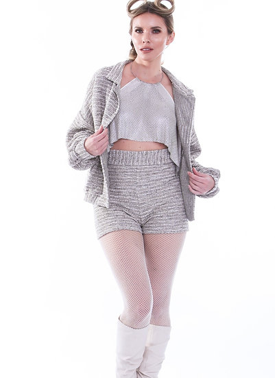 Shimmer Shell Pink Chainmail Toga Top