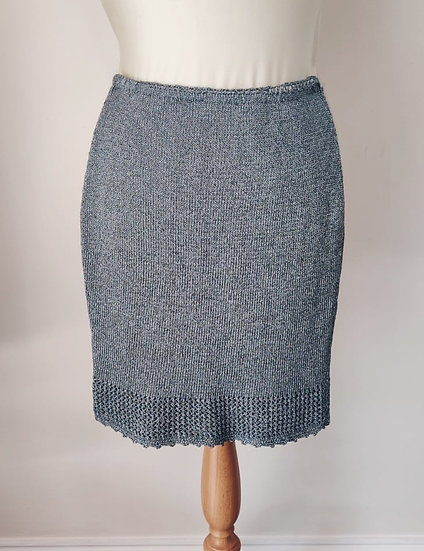 Gun Metal Crochet Skirt