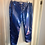 Thumbnail: Blue PVC Hipster Pants by Iconic Spice Girls Designer