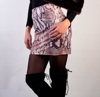 Wetlook Python Mini Skirt