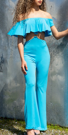Turquoise blue slinky body suit