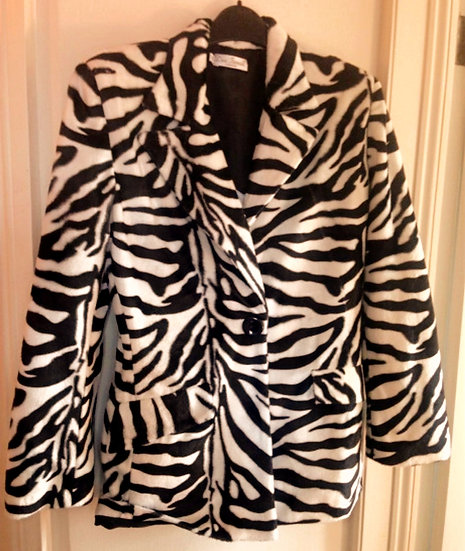 Vintage Zebra Jacket by Iconic Spice Girls Designer