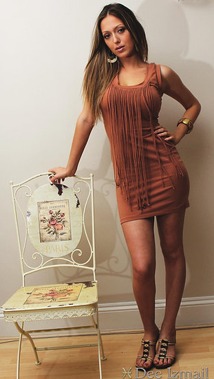 Soft Rust Colour Bodycon Dress