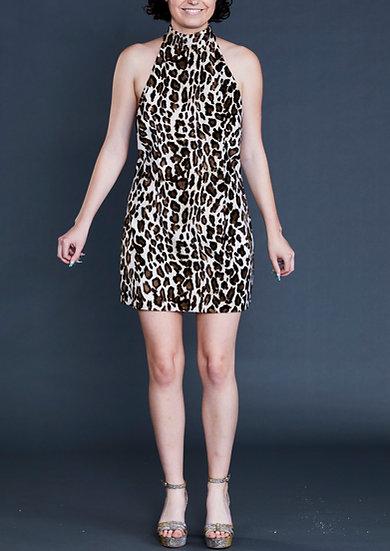 High Neck Halter Dress by Iconic Spice Girls Designer