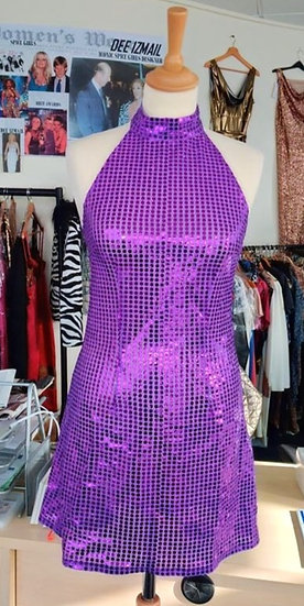 Disco Spot Sequin Dress by Iconic Spice Girls Designer