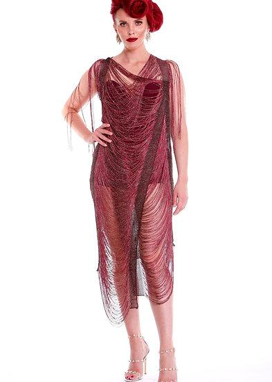 Bourdeux Lurex Fringed Dress and Under Garment
