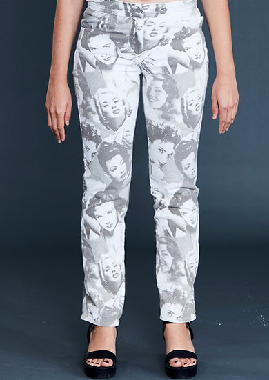 Lux Satin Bootleg Pant by Iconic Spice Girls Designer